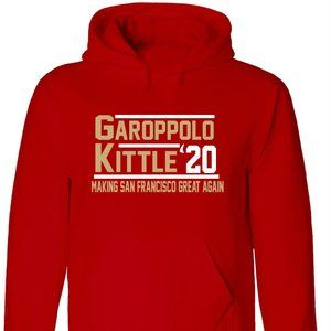 Kittle Garoppolo 2020 49ers YOUTH LARGE HOODIE